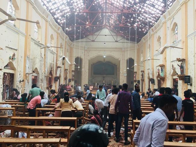 Pictures show the aftermath of an exposian at St.Sebastian's Church. Picture: Facebook