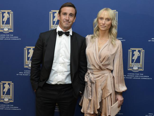 Johns with his partner Kate Kendall.