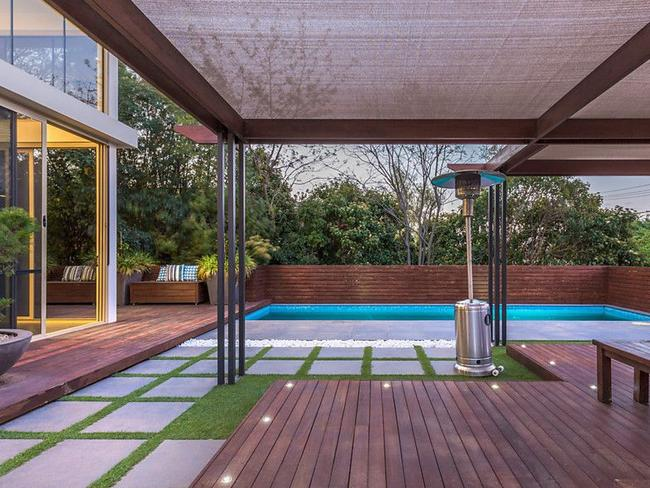 The outdoor entertaining area is located beside the pool. Picture: realestate.com.au/buy