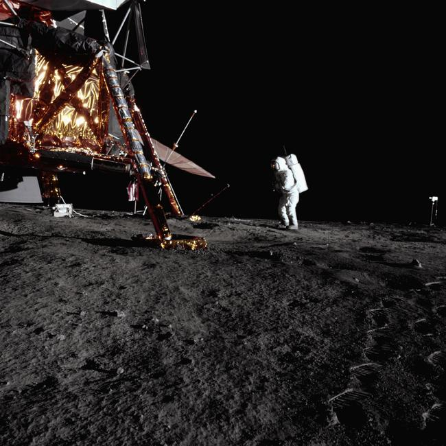 Apollo 12 landing. Location: Oceanus Procellarum, Moon. Picture: NASA/Corbis/Getty Images