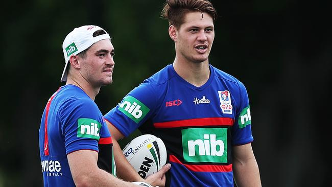 New boys Connor Watson and Kalyn Ponga will play a key role for the 2018 Knights.