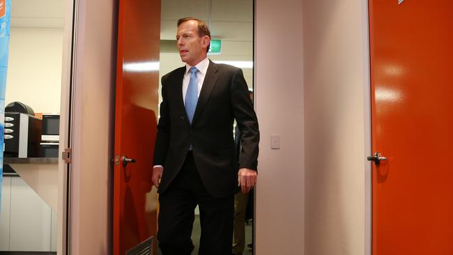The The Prime Minister Tony Abbott in Perth yesterday after Clive Palmer's Palmer United Party put a wrecking ball through his budget plans. Pic by Gary Ramage
