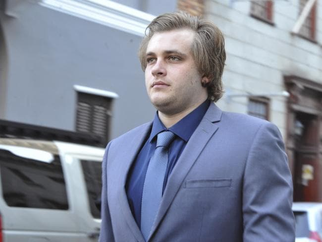 Henri Van Breda arrives at the High Court in Cape Town, South Africa, on Monday. Picture: Picture: AP Photo