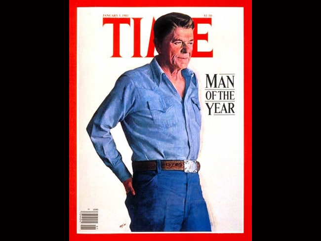 Time Person of the Year: Ronald Reagan, 1980. Photo: TIME
