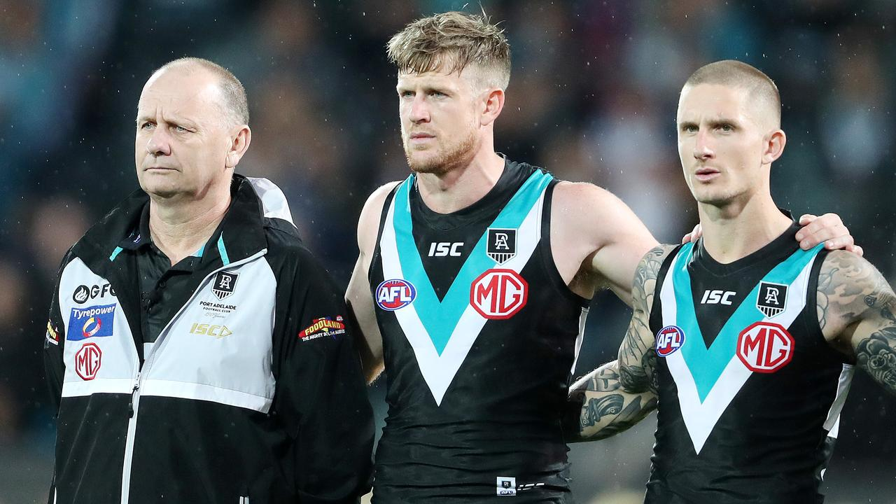 Ken Hinkley's men fell agonisingly short of a grand final (Picture: Sarah Reed)