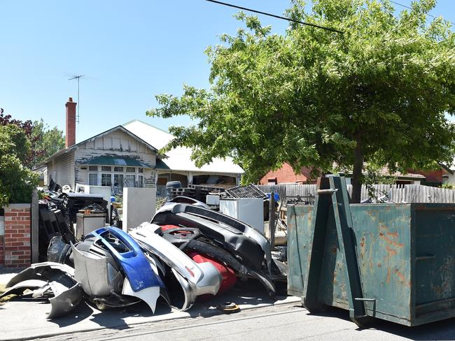 Rubbish at the property. Picture: Ellen Smith