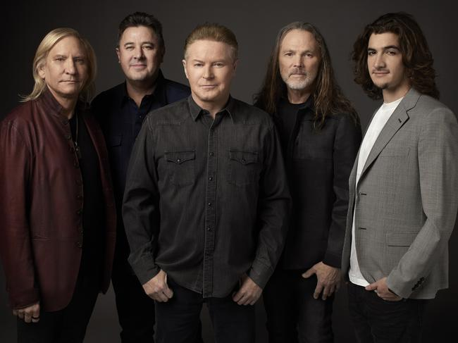 Deacon Frey, far right, the son of Glenn Frey, will join the Eagles on their Australian tour.