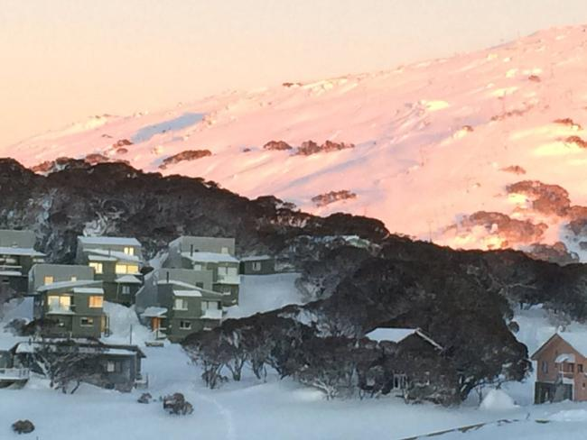 Perisher this morning as the storm cleared. Picture: Tourism Snowy Mountains.