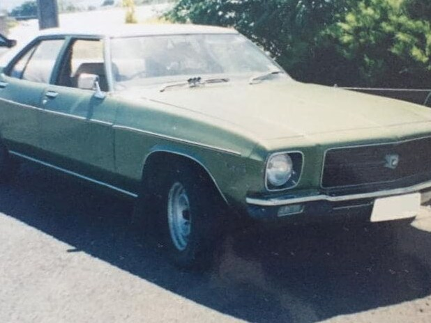 Dean's car, which Dean and Tameka were abducted in. Picture: Supplied