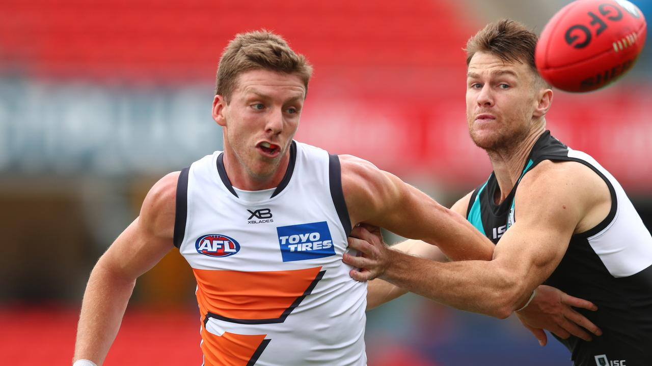 Aidan Corr had a career-best season with the Giants in 2020. Picture: Chris Hyde