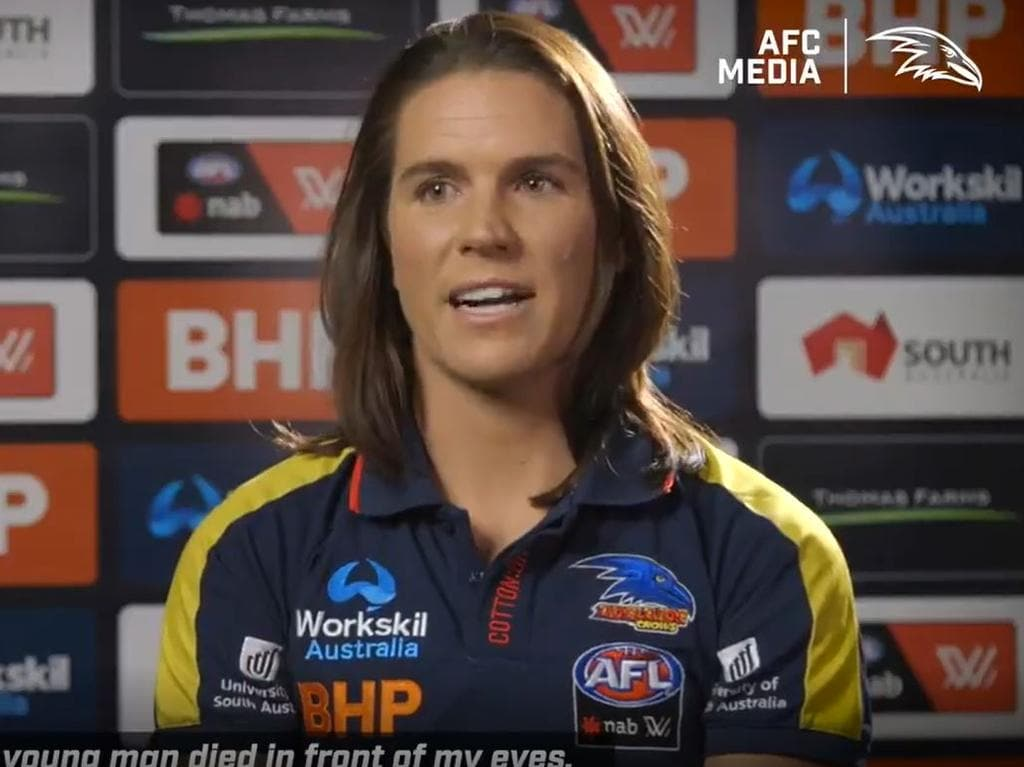 Chelsea Randall speaking to the club's website.