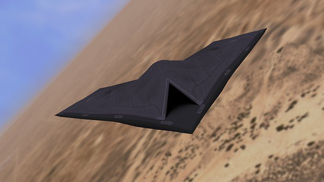 A concept image of the British superdrone, Taranis. Picture: BAE Systems