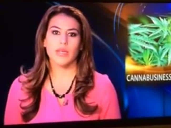 'Pardon for us' ... KTVA's baffled anchor fumbles a hasty apology. Picture: YouTube