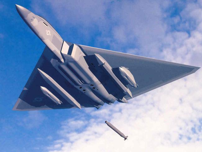 Deadly dart ... This early 2000s concept of a long range bomber was issued before the requirement of a new stealth bomber was issued. Source: Lockheed Martin