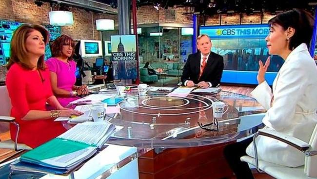 Ann Curry appeared on TV in the US, in her first interview since she left the Today show in 2012. Picture: CBS