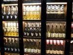 The restaurant's wine racks. Picture: Mike Burton