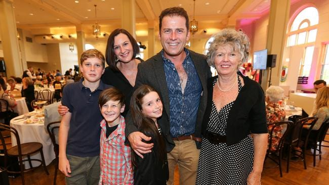 Cassandra Thorburn and Karl Stefanovic with their three children before their 2016 split. Picture: Attila Szilvasi.