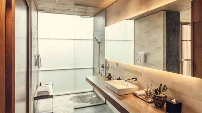 The bathrooms are next level. Image: Supplied
