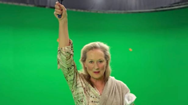 Streep at the end of the movie.