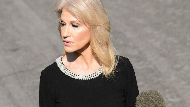 Counselor to US President Donald Trump, Kellyanne Conway has defended the president's choice of words for critics. Picture: AFP