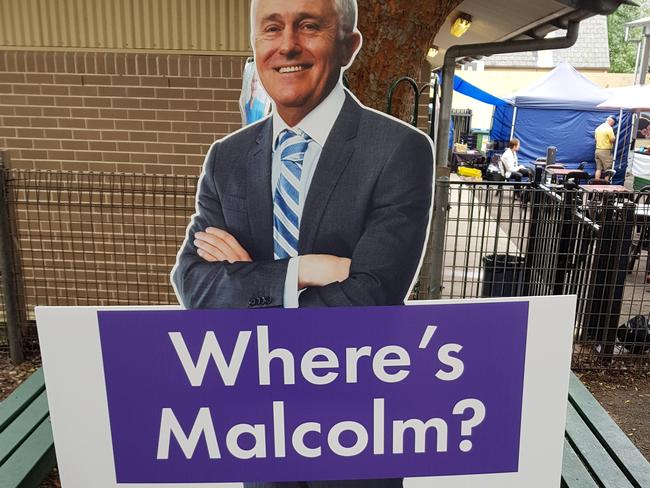 The Phelps campaign attempted to capitalise on Malcolm Turnbull's downfall.