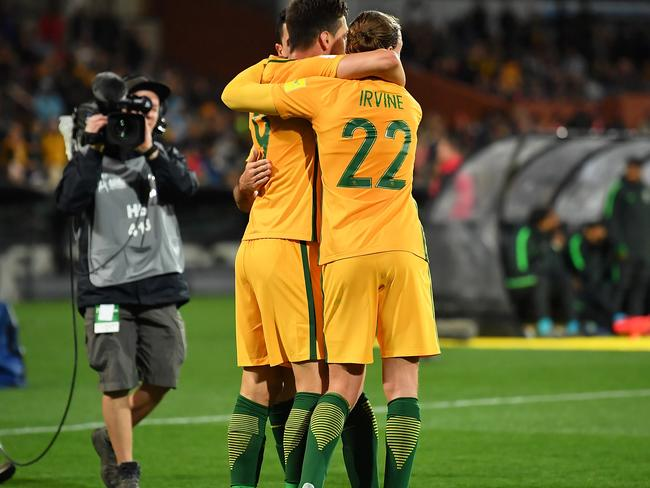 There is plenty of goalscoring pressure on Tomi Juric and Jackson Irvine.