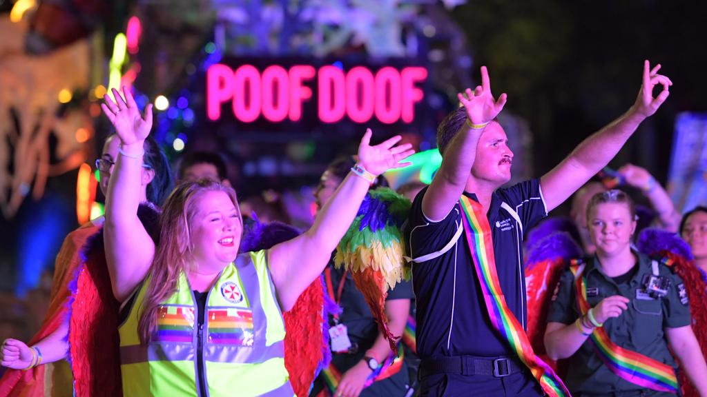 Revellers at Sydney Gay and Lesbian Mardi Gras. Picture: Tracey Nearmy/Sunday Telegraph