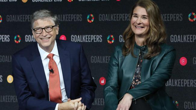 The former couple are a powerhouse in the philanthropy world and dividing up assets may be hard as much of the fortune is tied up in their foundation. Picture: Ludovic Marin/AFP