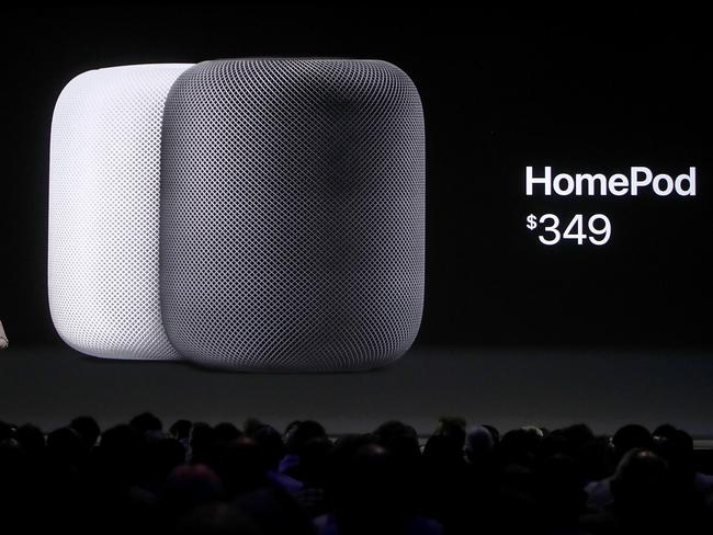 Apple CEO Tim Cook kicked off the five-day WWDC with announcements of a new operating system, a new iPad Pro and a the HomePod, a music speaker and home assistant. Picture: Justin Sullivan/Getty Images