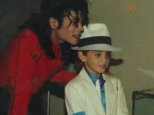 Michael Jackson and Wade Robson. Picture: 60 Minutes