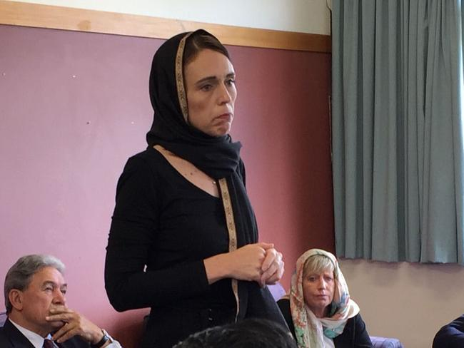 New Zealand Prime Minister Jacinda Ardern met with representatives of the Muslim community today. Picture: New Zealand Herald