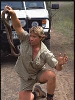 "Steve Irwin in scene from film ""The Crocodile Hunter: Collision Course"" ."