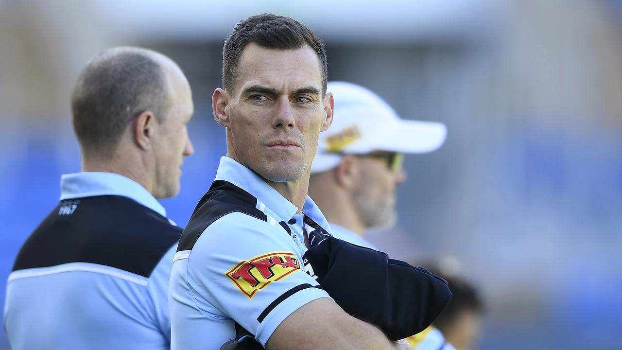 With no contract extension on the table at this stage, Sharks coach John Morris will be looking over his shoulder in 2021. (Photo by Ian Hitchcock/Getty Images)