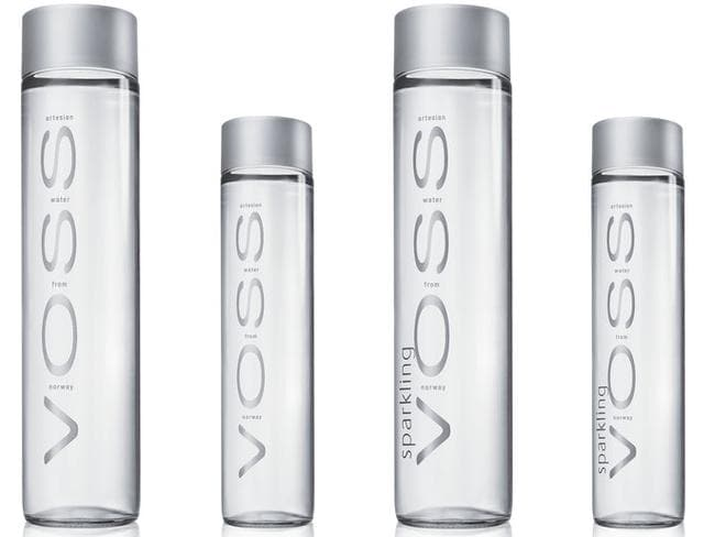 Voss water in still and sparkling, $3.90 per 800ml bottle.