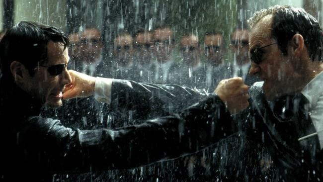 "Keanu Reeves and Hugo Weaving in scene ""The Matrix Revolutions"". Picture: Supplied"