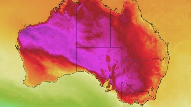 Forecasters say the heatwave won't pass until late next week. Picture: Weatherzone