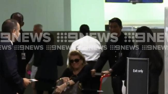 Roslyn Packer was spotted at Sydney International Airport earlier today.
