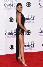 Shay Mitchell arrives at the People's Choice Awards 2016. Picture; AFP