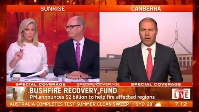 Sam Armytage busted signalling to executive producer live on air (Sunrise)