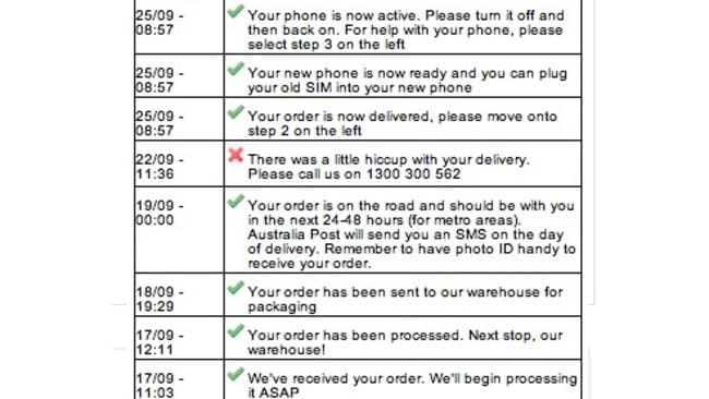 Despite never actually receiving the device, one customer's delivery records said he had not only received the phone but actually activated it.