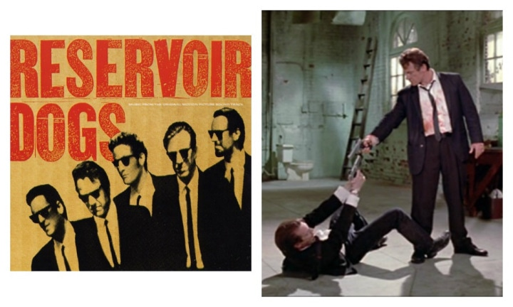 "RESERVOIR DOGS: ""If there's one thing that Quentin Tarantino knows how to do, it's build a bloody good movie soundtrack. In some of the movie's most disturbing parts, there's upbeat music that just works - like when Mr. Blonde sings Stuck In The Middle With You,"" said Sinead."