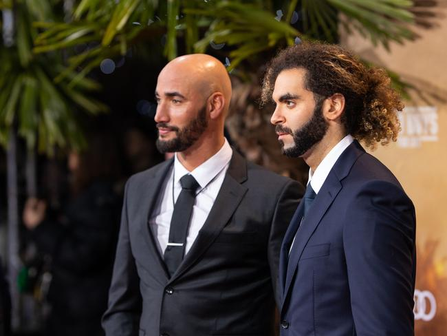 Directors Bilall Fallah and Adil El Arbi. Picture: Joshua Sammer/Getty Images for Sony Pictures