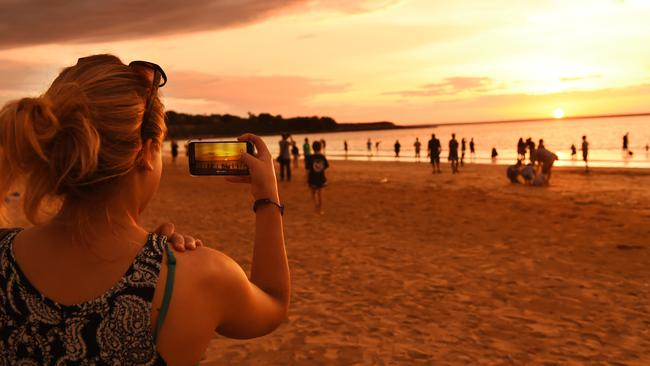 Darwin's Mindil Beach is famous for spectacular sunsets.