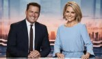 Karl Stefanovic and Georgie Gardner on the set of the Today show. Picture: Channel 9