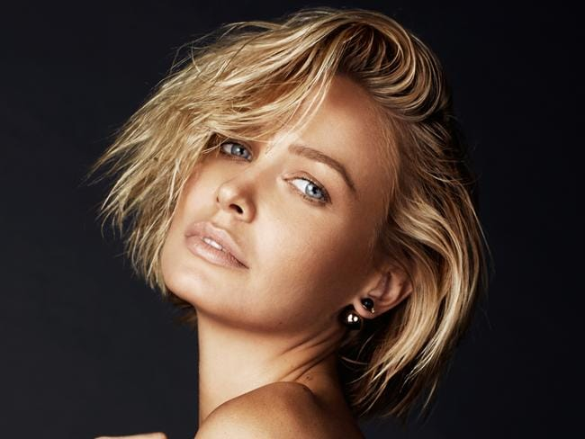 Pre-pregnancy shoot ... Australian model Lara Bingle (Lara Worthington) appears in a photo-shoot for Gritty Pretty Magazine. Picture: Tāne Coffin