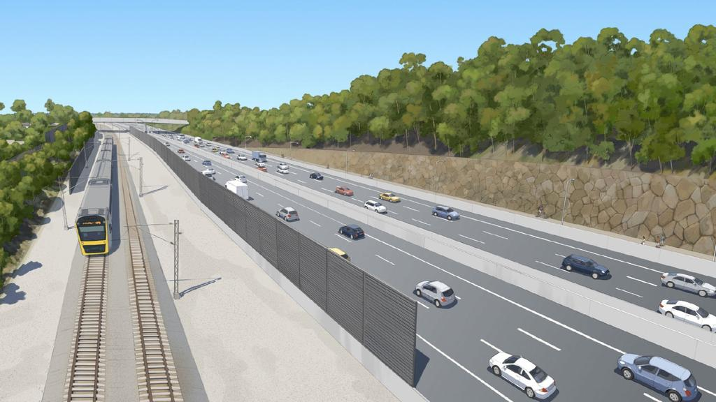 How the Coomera Connector will appear at The Shores