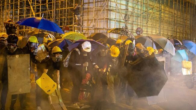 It was another weekend of chaos in Hong Kong. Picture: Billy H.C. Kwok/Getty Images