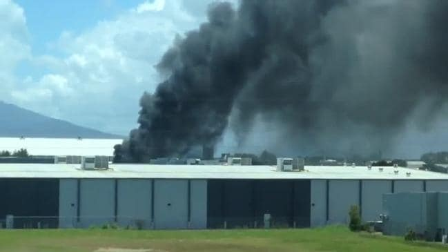 An Industrial explosion at Sims Metal in Cairns