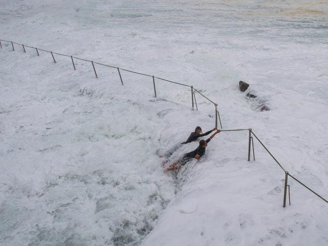 Storm swell at Bronte Beach, sydney, Australia. Pic: Bill Morris