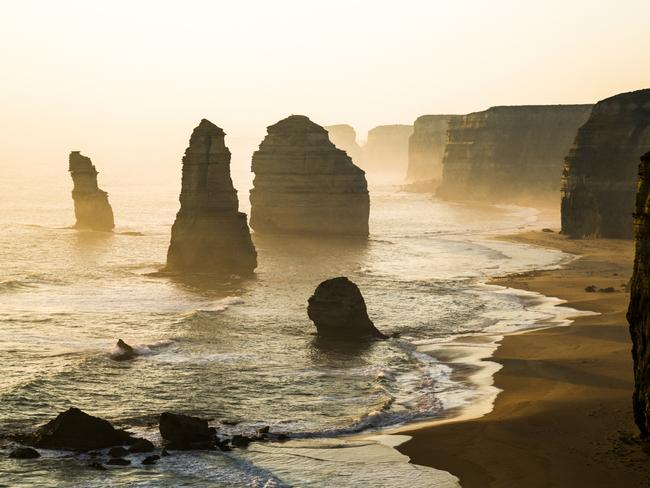 Twelve Apostles, Great Ocean Rd, Victoria. Picture: G. Huang / National Geographic Photo Contest